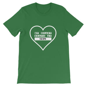 My Heart Beats At 150 BPM T-shirt Men Green by Raverabbit