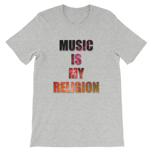 Music Is My Religion T-Shirt Men athletic heather by Raverabbit