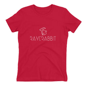 Raverabbit T-shirt women red by Raverabbit