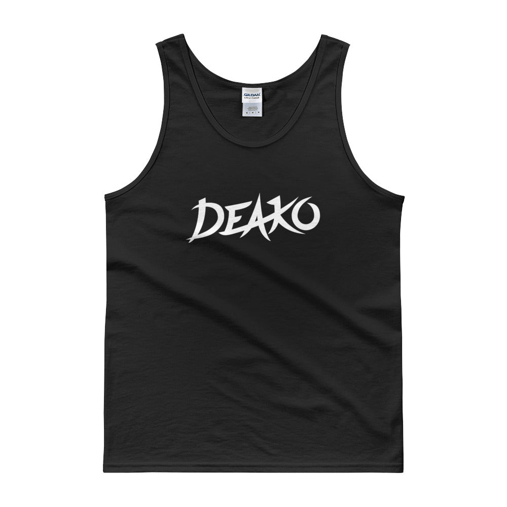 Deako Tank Top Men Women Black by Raverabbit Shop
