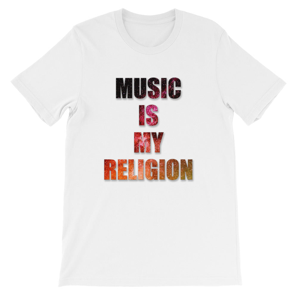 Music Is My Religion T-Shirt Men White by Raverabbit