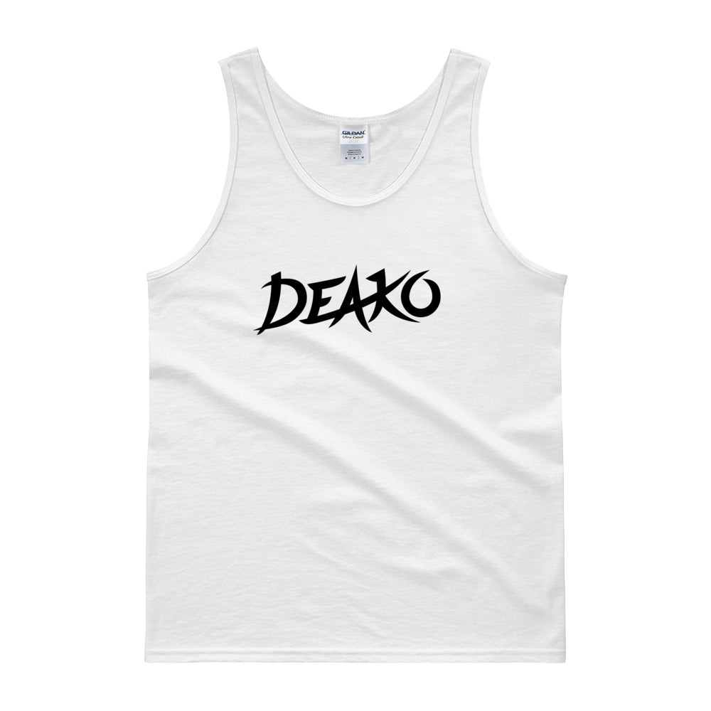 Deako Tank Top Men Women White by Raverabbit Shop