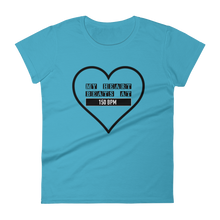 My Heart Beats At 150 BPM T-shirt Women blue by Raverabbit