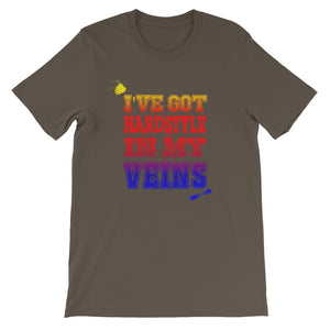 I've Got Hardstyle In My Veins T-shirt Men Army by Raverabbit