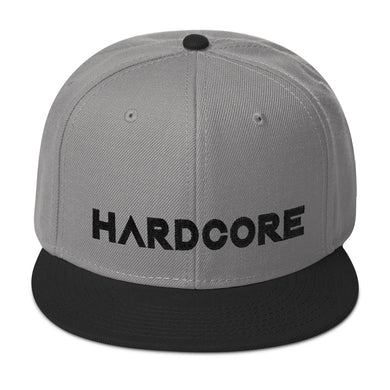 Hardcore Cap Grey/Black Unisex by Raverabbit
