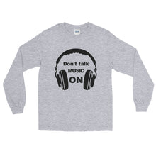Don't Talk Music On Long Sleeve Men Sport Grey by Raverabbit