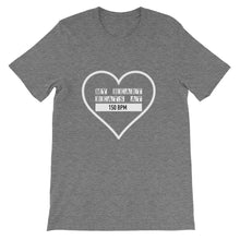 My Heart Beats At 150 BPM T-shirt Men Deep Heather by Raverabbit