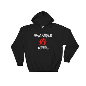 Hardstyle Rebel Hoodie Men Women Black by Raverabbit
