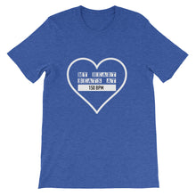 My Heart Beats At 150 BPM T-shirt Men Blue by Raverabbit