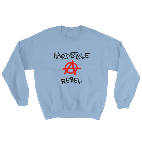 Hardstyle Rebel Sweatshirt Men Women Light Blue by Raverabbit