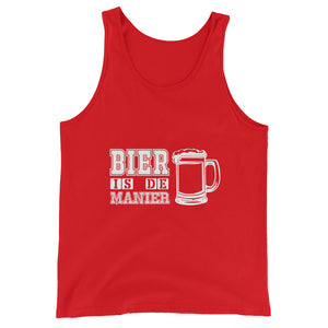 Bier Is De Manier Tank Top Men Women Red by Raverabbit