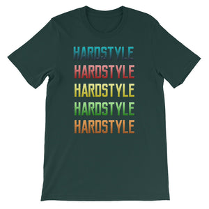Hardstyle T-shirt Men Green  by Raverabbit
