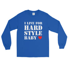 I Live For Hardstyle Baby Long Sleeve Men Women Blue by Raverabbit
