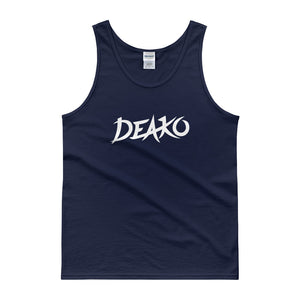 Deako Tank Top Men Women Navy Blue by Raverabbit Shop