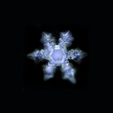 Photo of crystal of revitalized water from Alladin Carafe - Fractal Effects