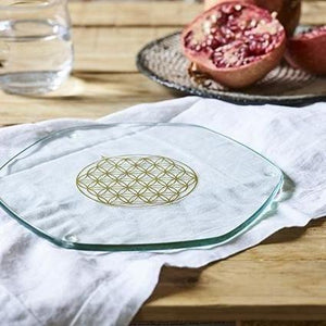 Large Energy Charging Plate - Nature's Design Glassware Golden Ratio Products