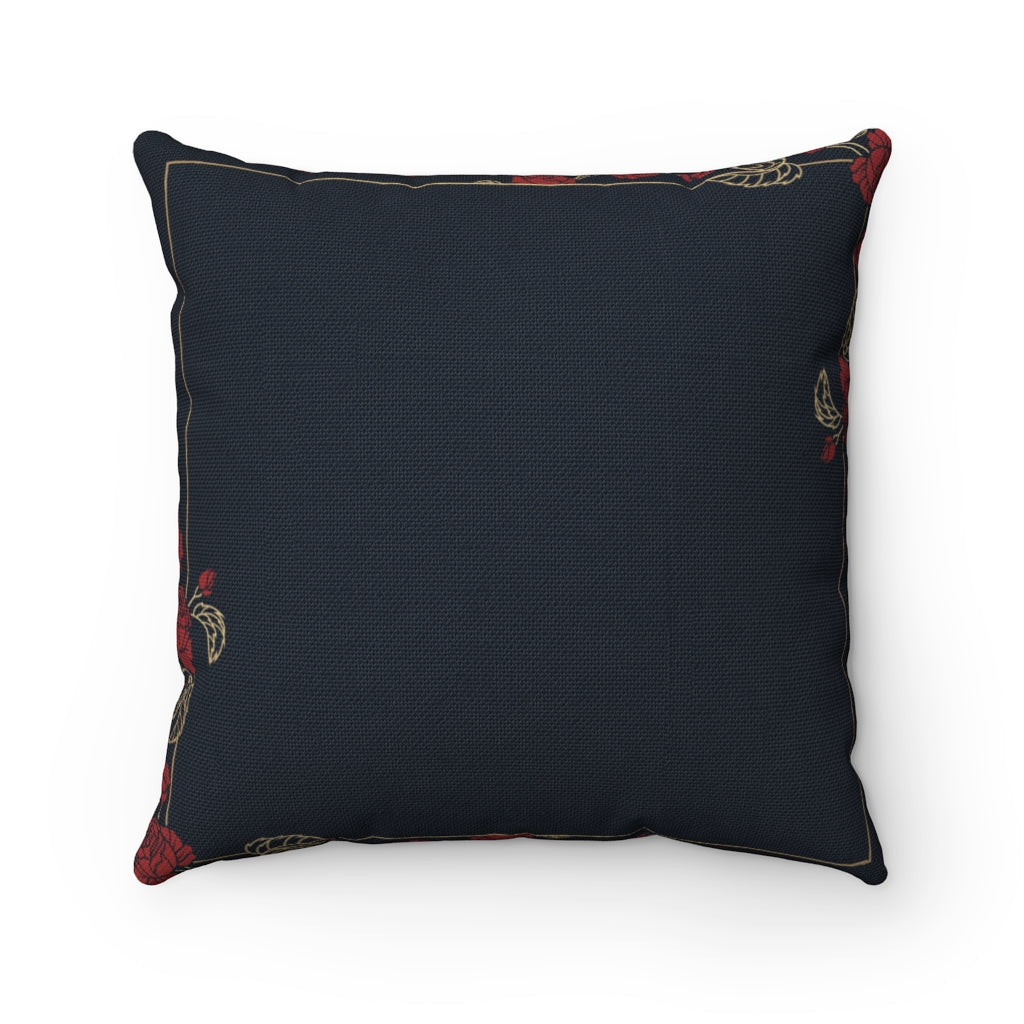 Floral abstract black decorative cushion cover