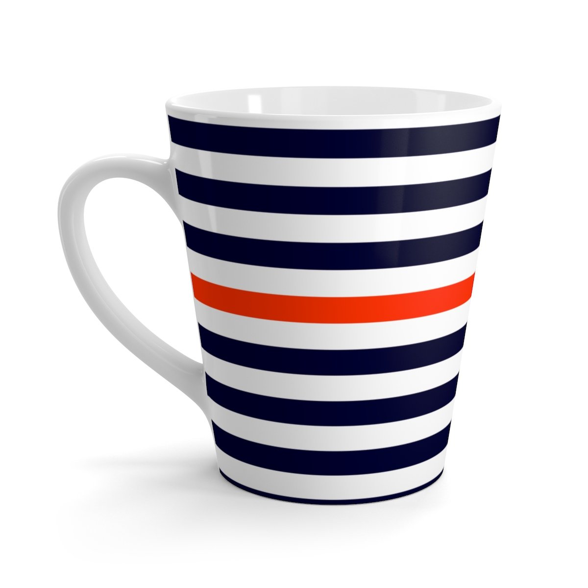 12 oz (0.35l) nautica striped latte white ceramic mug-Mug-Printify-12oz-Très Elite