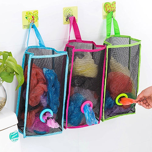 Fashion Breathable Mesh Hanging Kitchen Garbage Storage Packing Pouch Bag