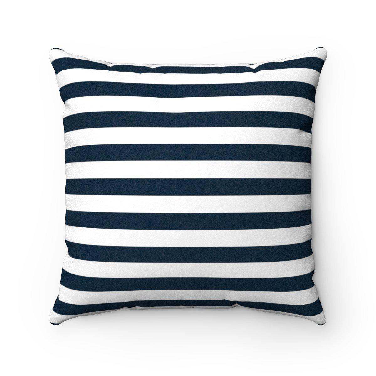 2 in 1 Double sided faux suede decorative striped pillow w/insert-Home Decor - Decorative Accents - Pillows & Throws - Decorative Pillows-Maison d'Elite-14x14-Très Elite