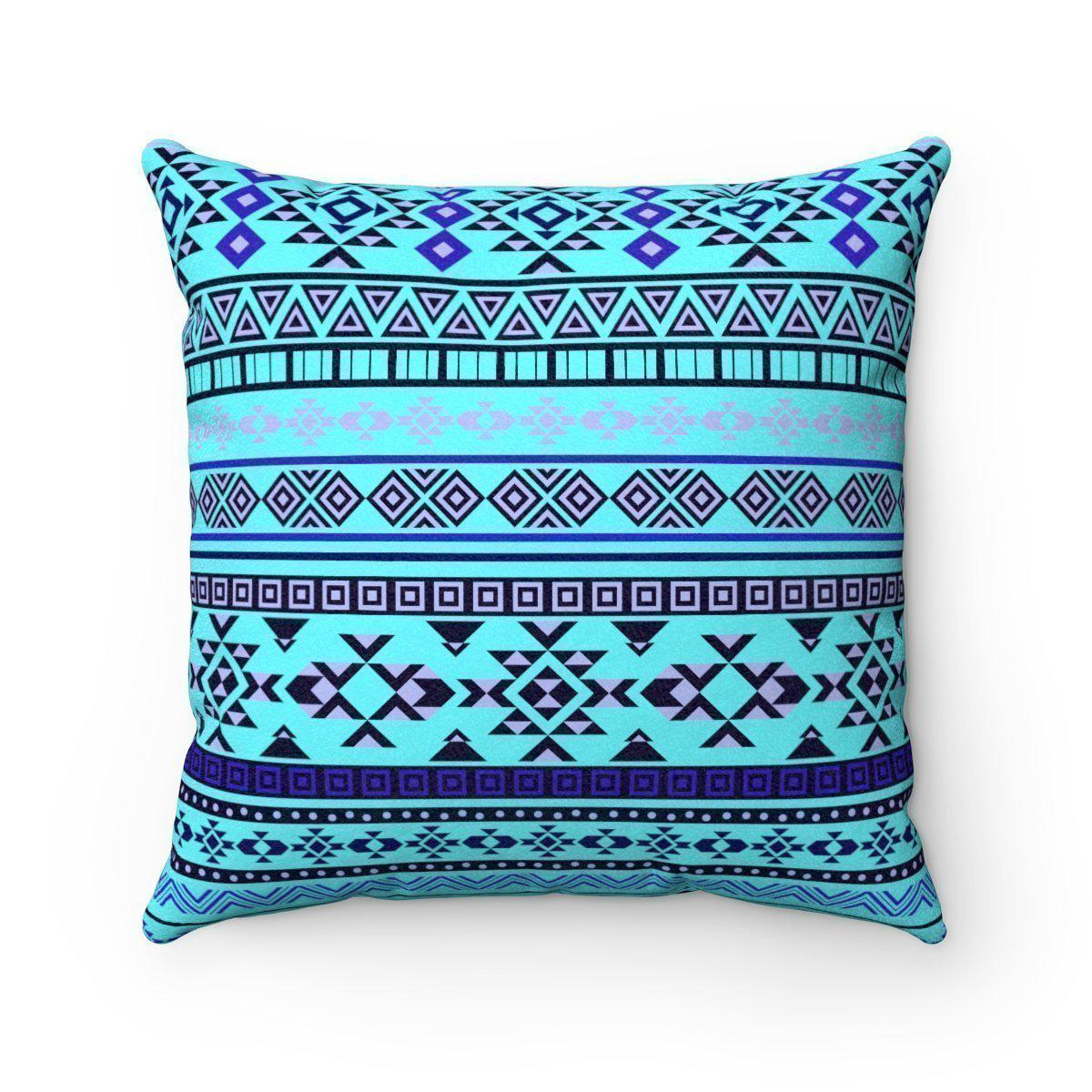 2 in 1 Double sided faux suede ethnic decorative pillow w/insert-Home Decor - Decorative Accents - Pillows & Throws - Decorative Pillows-Maison d'Elite-14x14-Très Elite