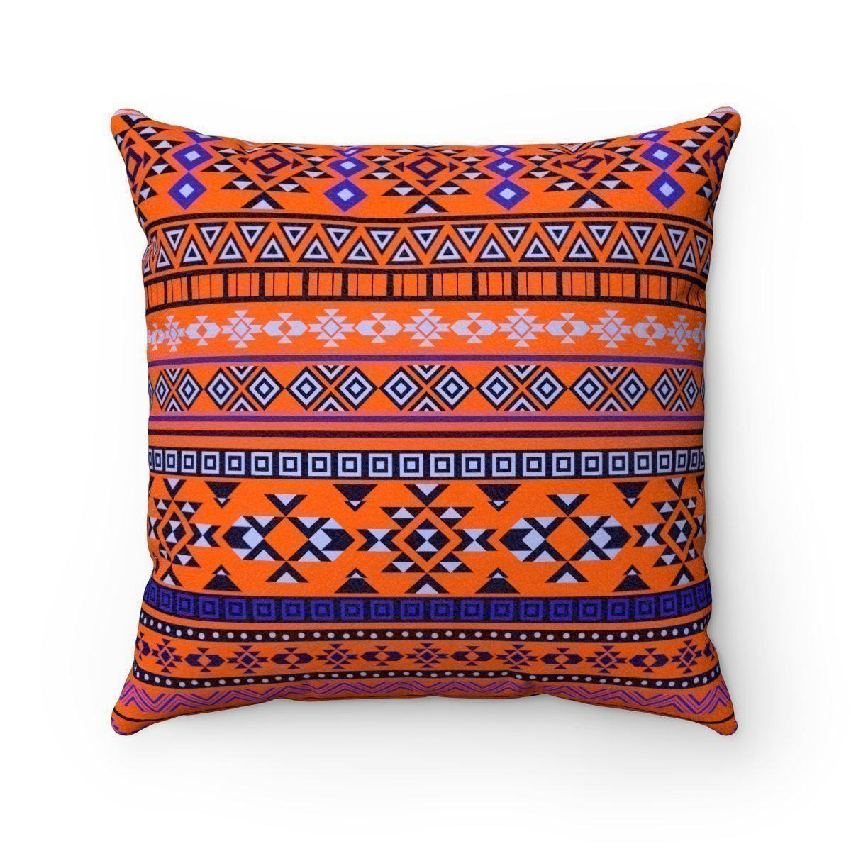 2 in 1 Double sided faux suede ethnic decorative pillow w/insert-Home Decor - Decorative Accents - Pillows & Throws - Decorative Pillows-Maison d'Elite-16x16-Très Elite