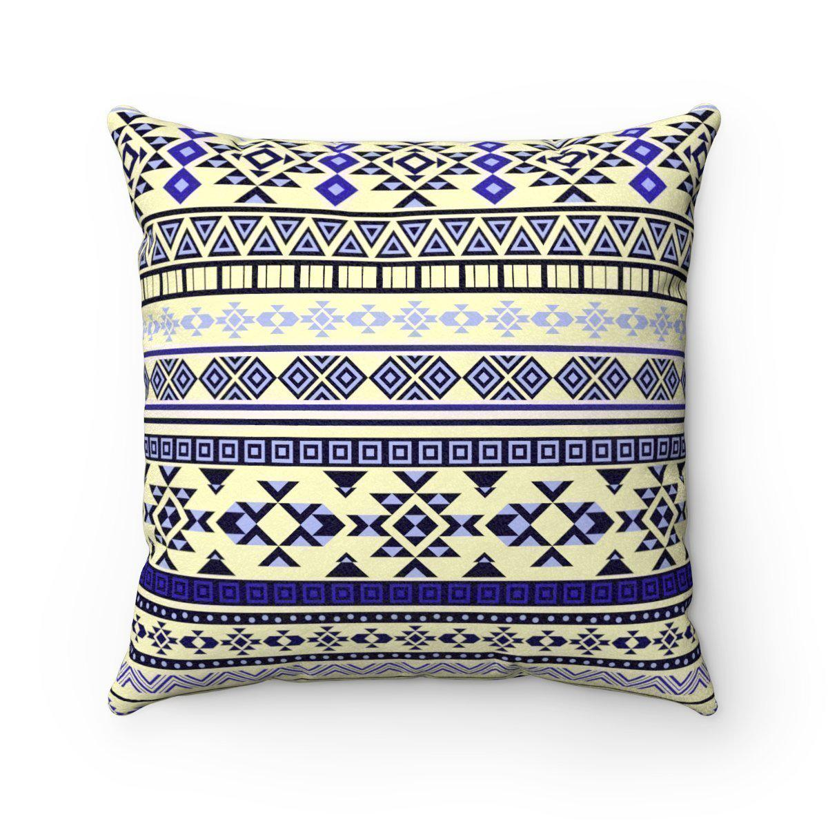 2 in 1 Double sided faux suede ethnic decorative pillow w/insert-Home Decor - Decorative Accents - Pillows & Throws - Decorative Pillows-Maison d'Elite-18x18-Très Elite