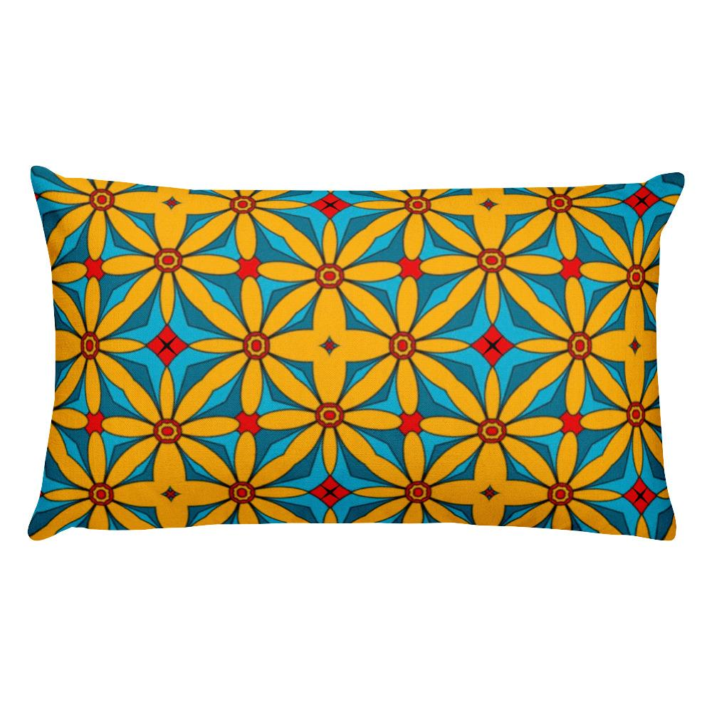 "20""x12"" Rectangular Accent Pillow w/insert-Home Decor - Decorative Accents - Pillows & Throws - Decorative Pillows-Maison d'Elite-20""x12""-Yellow/ Red-Spun Polyester-Très Elite"