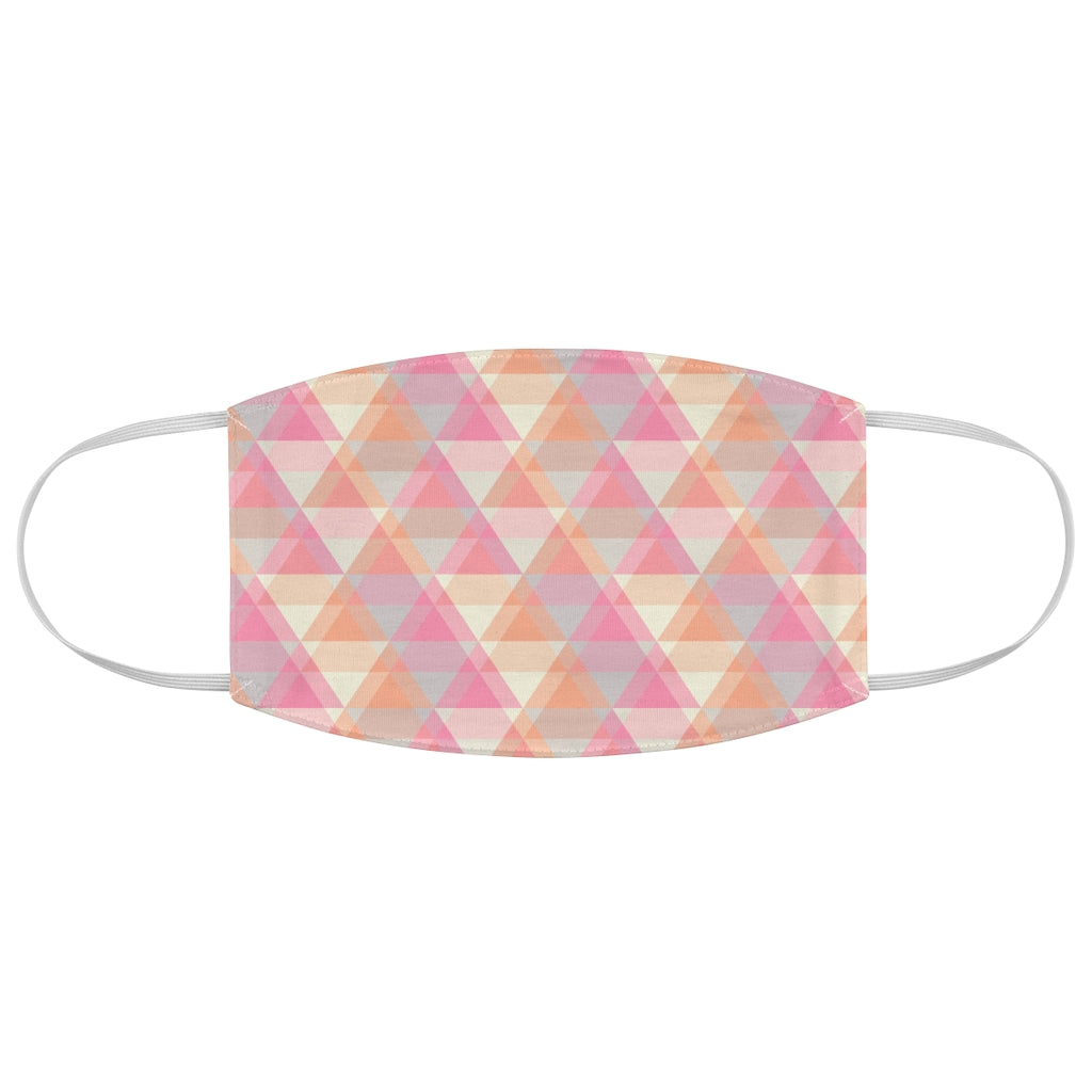 Fabric Face Mask with Triangles pattern