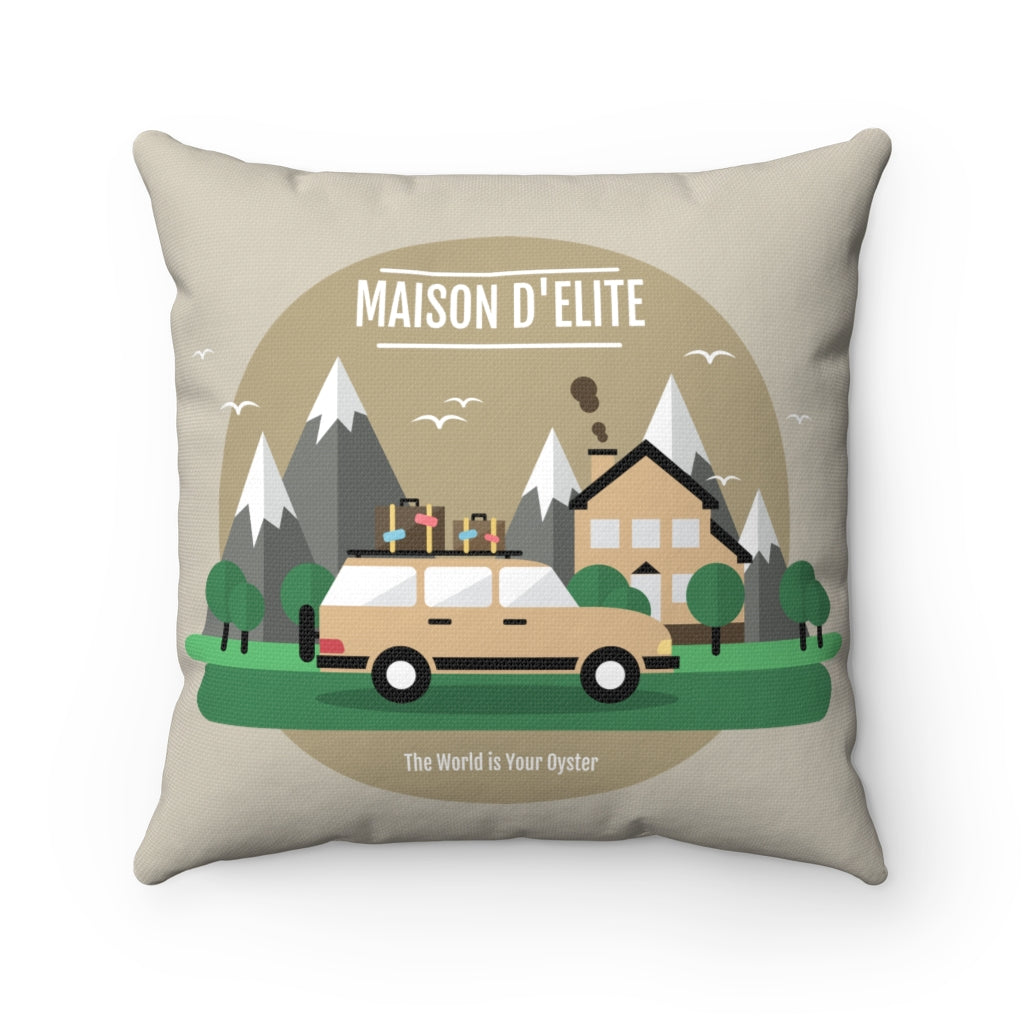 Camping mountain cushion cover