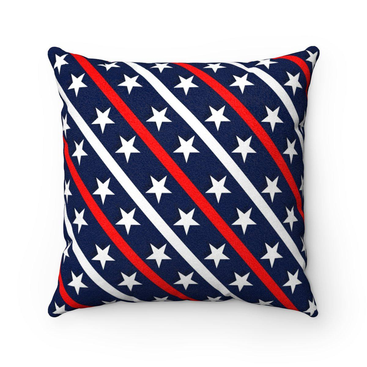 "4th of July microfiber ""2 in 1"" decorative pillow w/insert-Home Decor - Decorative Accents - Pillows & Throws - Decorative Pillows-Maison d'Elite-14x14-Très Elite"