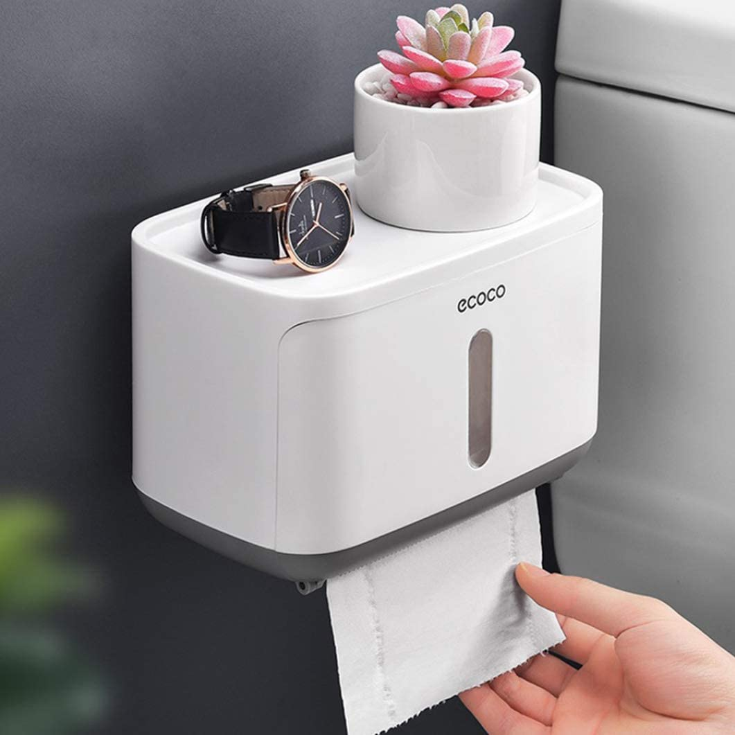 Shelf Wall Mounted Toilet Roll Holder