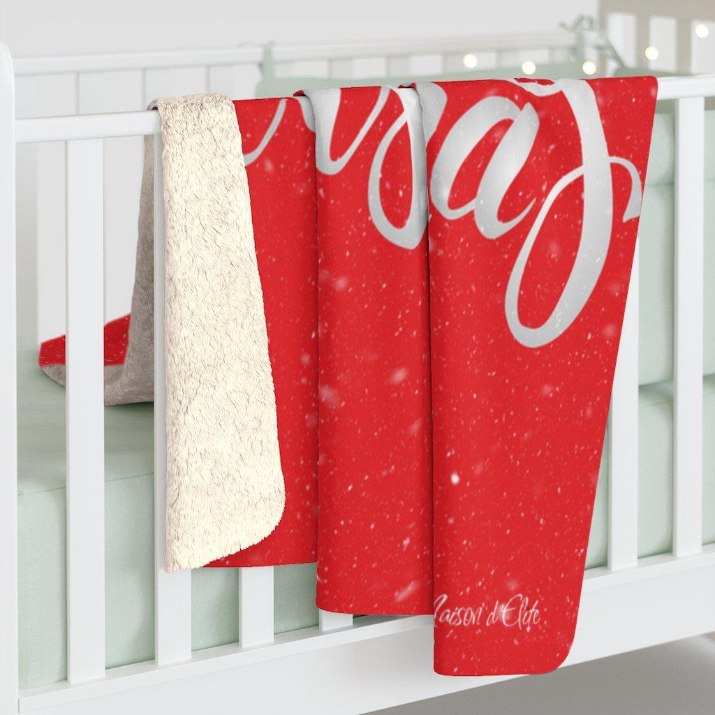 Holiday Sherpa Fleece Blanket