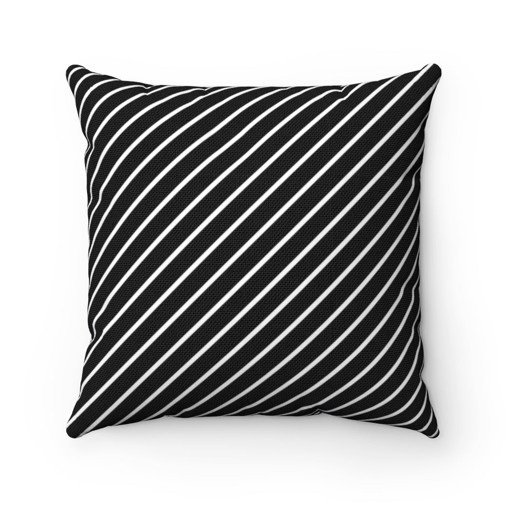 Striped decorative cushion cover