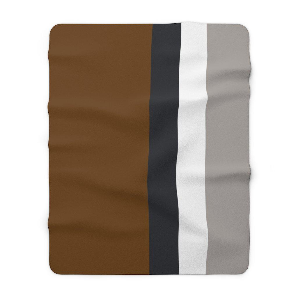 Striped Sherpa Fleece Blanket
