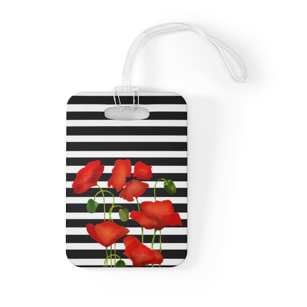 Maison d'Elite Pansies Luggage Tag