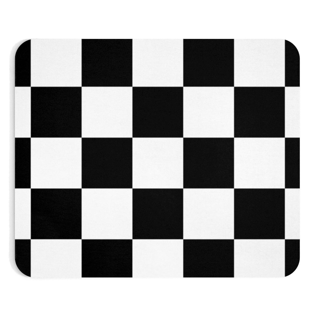Black and white checkered Mousepad