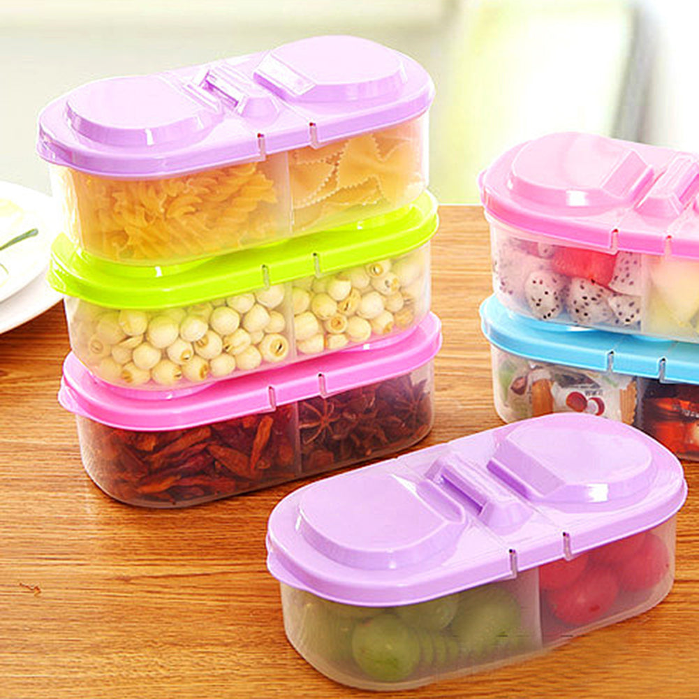 Fresh Food Cereal Bean Snacks Sauce Storage Box Kitchen Container Plastic Case