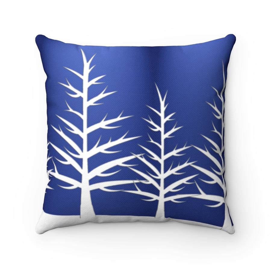 Winter blue and white cushion cover