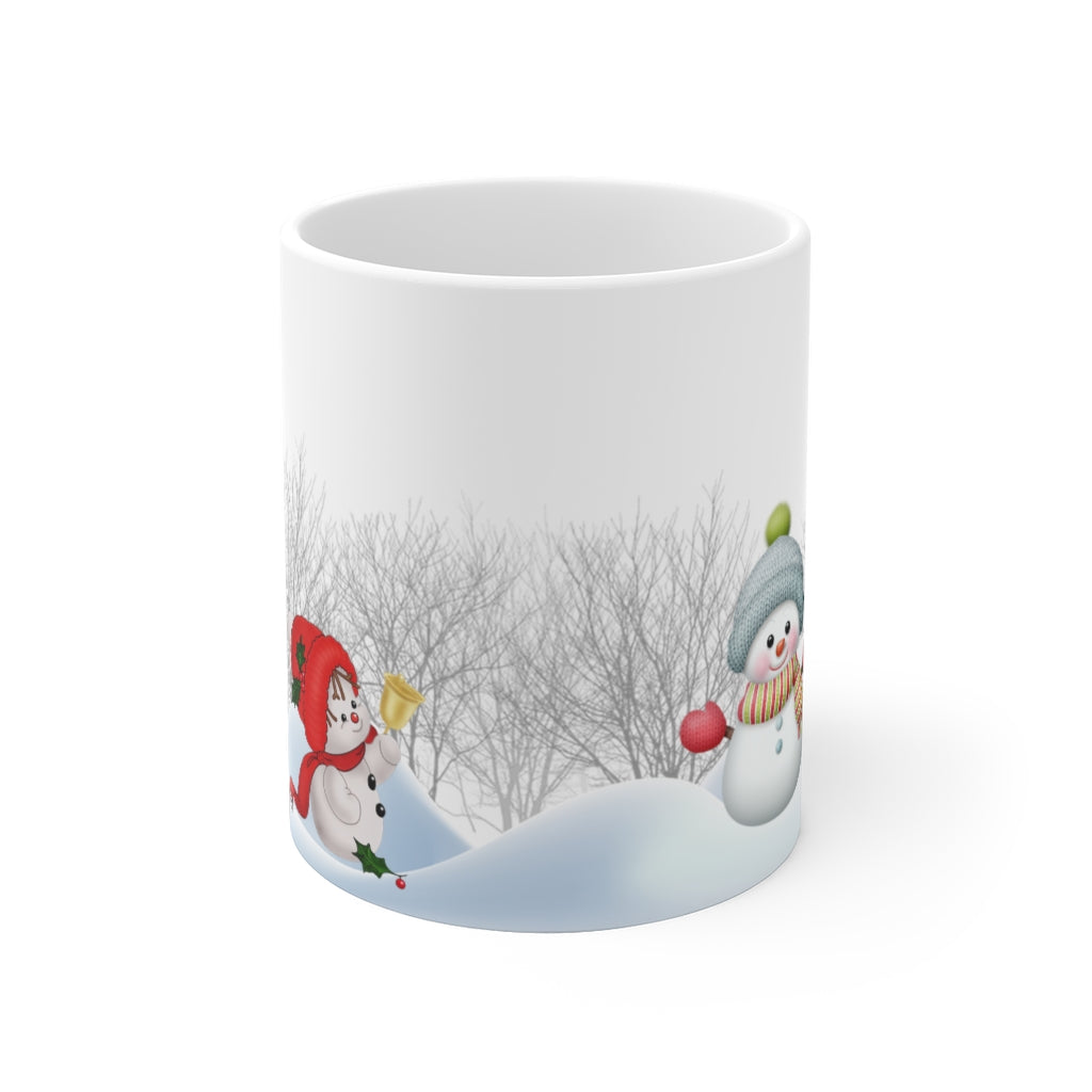 Cute snowman Christmas Holidays winter ceramic mug