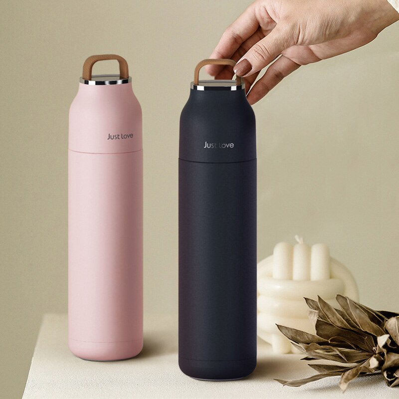 500ML/17OZ Double Wall Thermos Water Bottle Stainless Steel