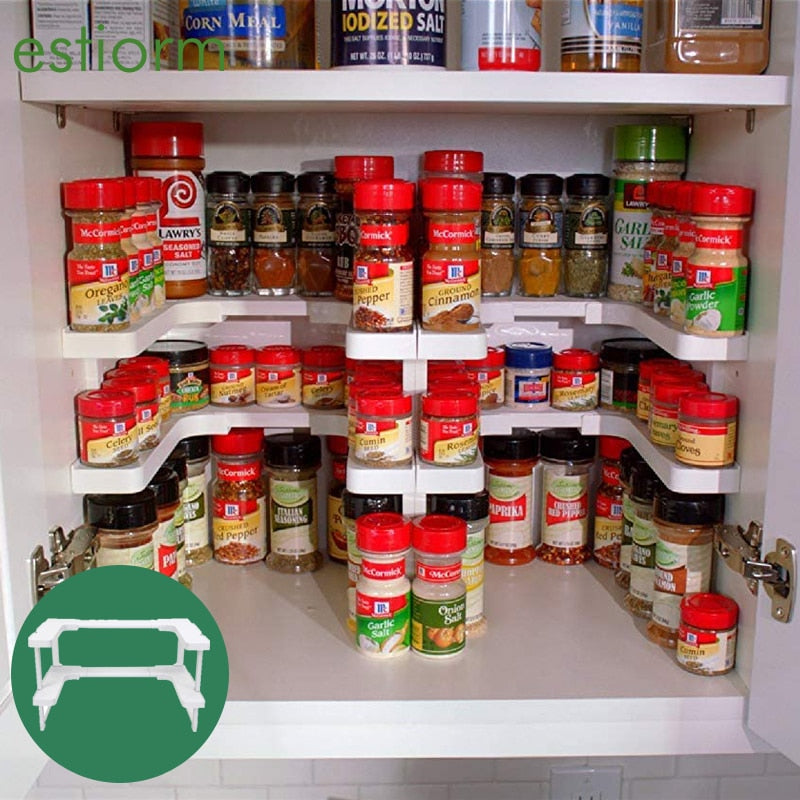 Deluxe Stackable Spicy Adjustable Expandable Cabinet Organizer