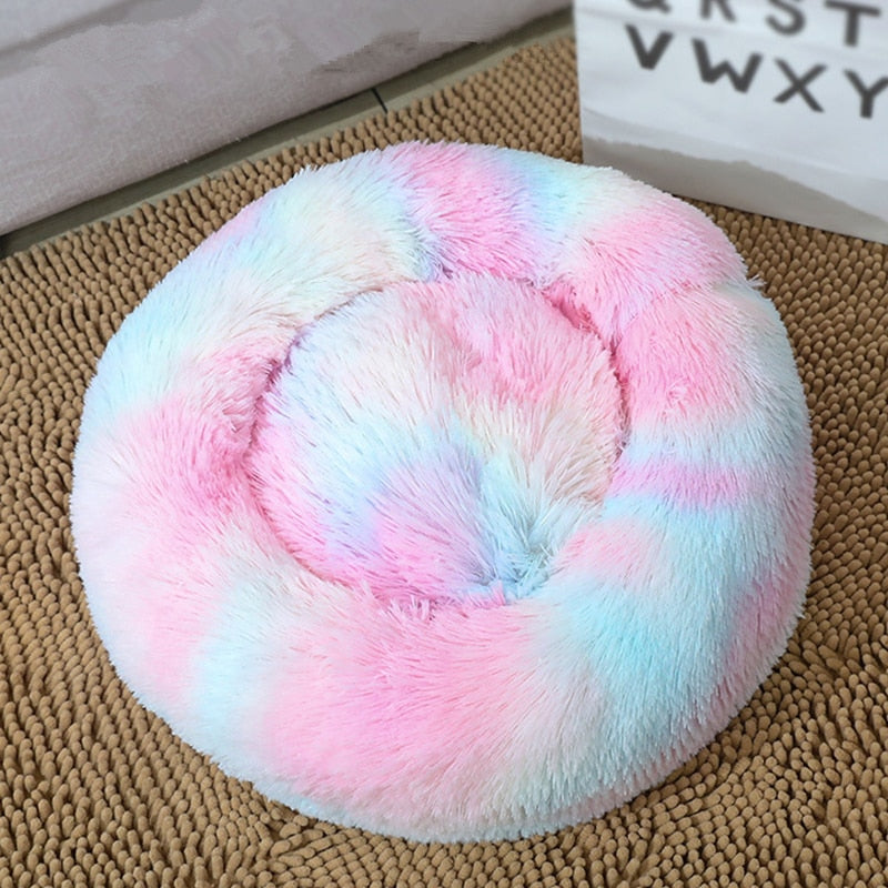 Donuts Pet Calming Bed Hondenmand Pet Kennel Cats House Cuddler