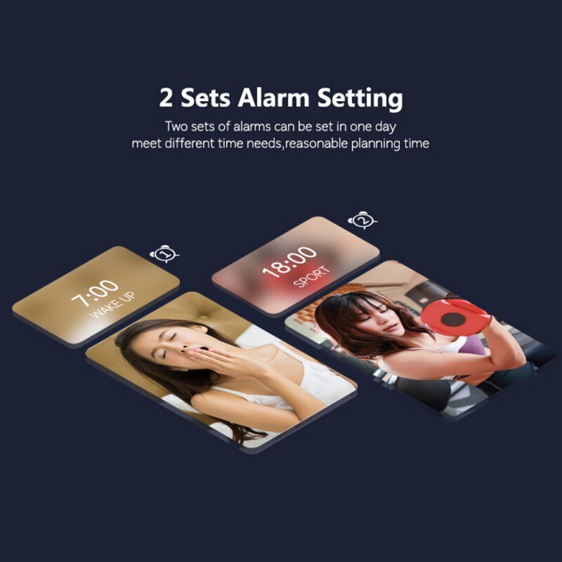 LED Digital Alarm Clocks For Bedrooms Bedside With Snooze Digital Clock For Heavy Sleepers Dual Clock With USB Charger -