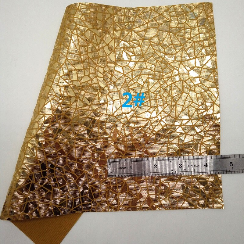YELLOW Glitter Fabric, Transparent PVC with Printed Leopard, Snake Faux Fabric Sheets For Bow A4 21x29CM Twinkling Ming XM015C