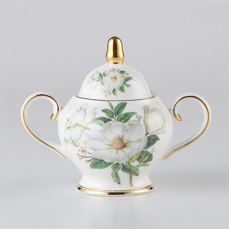 Europe Camellia Bone British Porcelain Tea Set