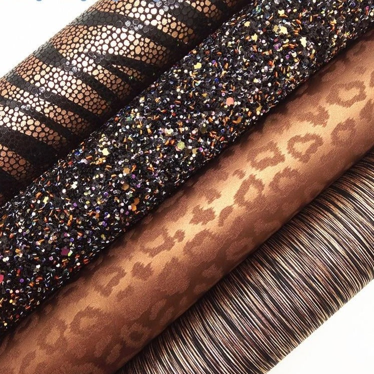 Glitter Fabric, Snake, Metallic Snake Leather, Leopard Synthetic Leather, Immitation fur For Bow A4 21x29CM Twinkling Ming KM087