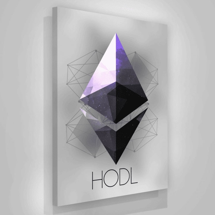 CryptoStop Ethereum Crypto Hodl Paintings Wall Art Poster