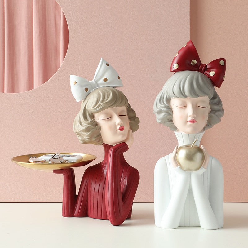 Moden Gorgeous Girl Resin Art Statue Gift Fairy Accessori Fashion Style Sculpture ornaments Home Decoration Tabletop figurines