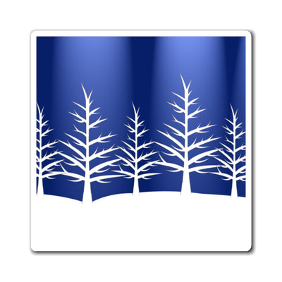 Blue and white winter Magnets